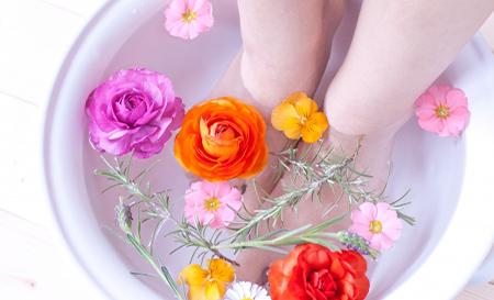 足湯で冷え・むくみ対策